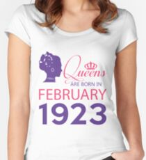 It's My Birthday 95. Made In February 1923. 1923 Gift Ideas. Women's Fitted Scoop T-Shirt