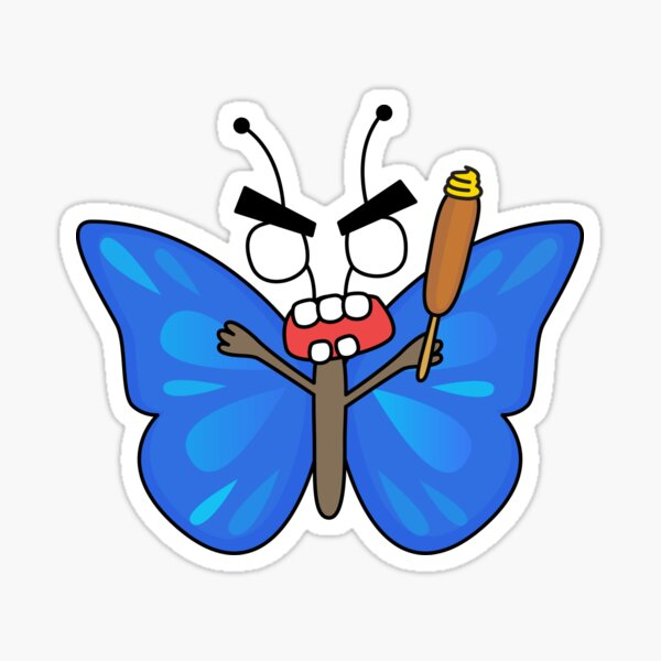 angry zombie butterfly Sticker