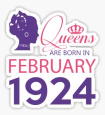 It's My Birthday 94. Made In February 1924. 1924 Gift Ideas. Sticker