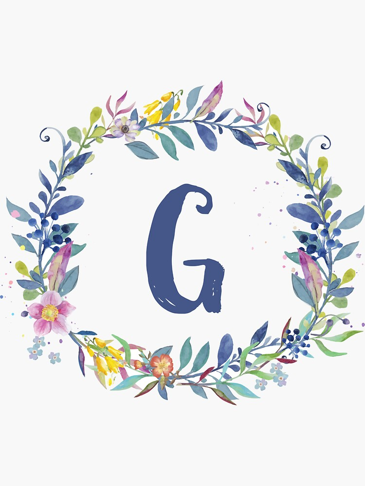 Watercolor Monogram G by MaPetiteFleur