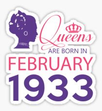 It's My Birthday 85. Made In February 1933. 1933 Gift Ideas. Sticker