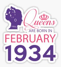 It's My Birthday 84. Made In February 1934. 1934 Gift Ideas. Sticker
