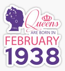 It's My Birthday 80. Made In February 1938. 1938 Gift Ideas. Sticker
