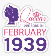It's My Birthday 79. Made In February 1939. 1939 Gift Ideas. Sticker