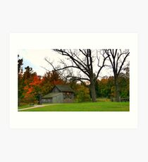 Outbuilding at de Laurier homestead Art Print