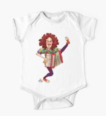 Alfred (Weird Al) Yankovic and Harvey the Wonder Hamster Short Sleeve Baby One-Piece