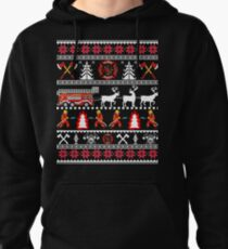 Firefighter Ugly Christmas Sweater - Fireman Fire Department Christmas Shirt Pullover Hoodie