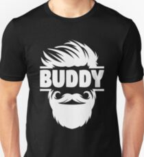 Buddy The Elf Shirt - Future Hunting Buddy - I'm Drinking Buddy - Buddy Brother - Camera Lens Buddy - Camera Buddy - Running Buddy - Crochet Unisex T-Shirt