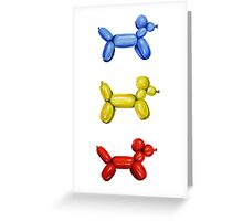 Balloon Dogs Greeting Card