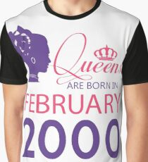 It's My Birthday 18. Made In February 2000. 2000 Gift Ideas. Graphic T-Shirt