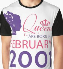 It's My Birthday 17. Made In February 2001. 2001 Gift Ideas. Graphic T-Shirt
