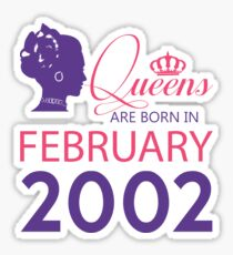 It's My Birthday 16. Made In February 2002. 2002 Gift Ideas. Sticker