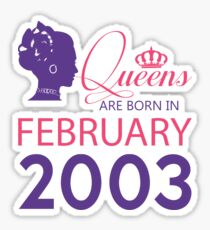 It's My Birthday 15. Made In February 2003. 2003 Gift Ideas. Sticker