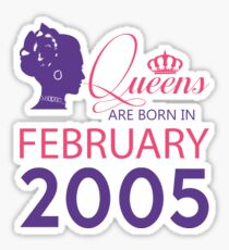 It's My Birthday 13. Made In February 2005. 2005 Gift Ideas. Sticker