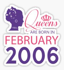 It's My Birthday 12. Made In February 2006. 2006 Gift Ideas. Sticker