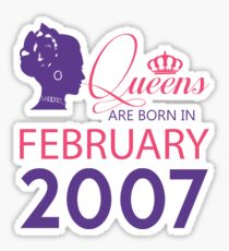 It's My Birthday 11. Made In February 2007. 2007 Gift Ideas. Sticker