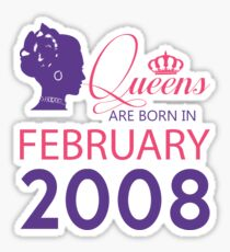 It's My Birthday 10. Made In February 2008. 2008 Gift Ideas. Sticker