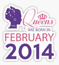 It's My Birthday 4. Made In February 2014. 2014 Gift Ideas. Sticker