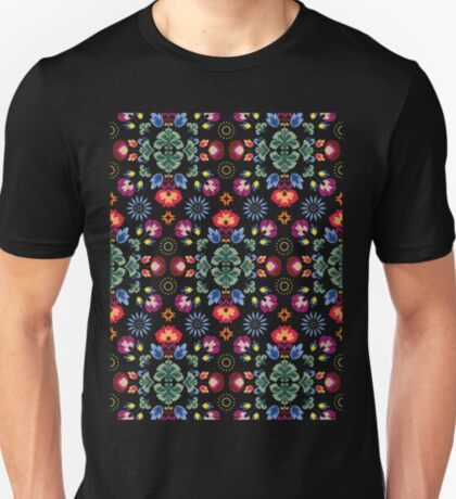 Fiesta Folk Black #redbubble #folk T-Shirt