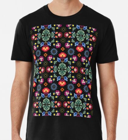 Fiesta Folk Black #redbubble #folk Premium T-Shirt