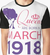 It's My Birthday 100. Made In March 1918. 1918 Gift Ideas. Graphic T-Shirt