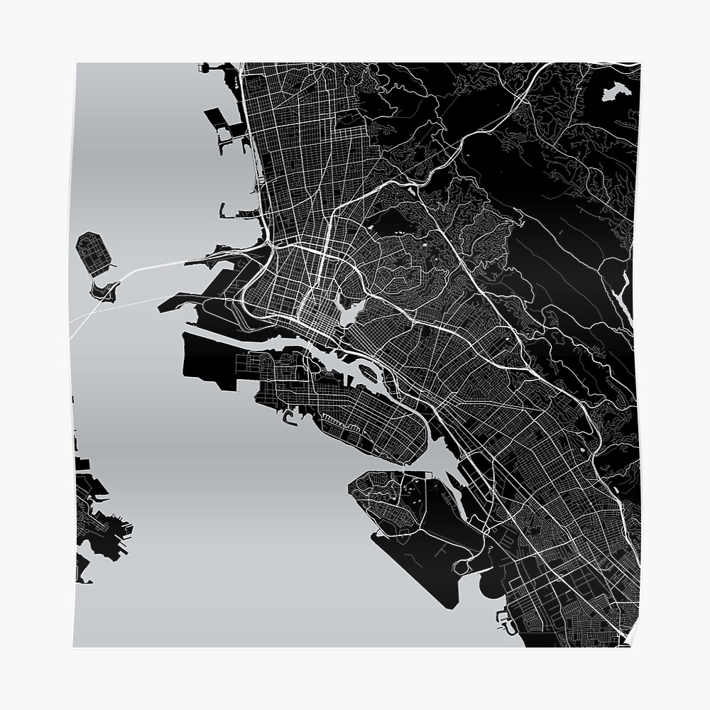 Oakland Map In Raiders Colors Bay Area Poster By Luvfrumabuv Redbubble This month's map of the month highlights bay area opportunity zones as designated by the state of california department of finance. oakland map in raiders colors bay area poster by luvfrumabuv redbubble