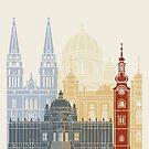 Zagreb Skyline Poster von paulrommer