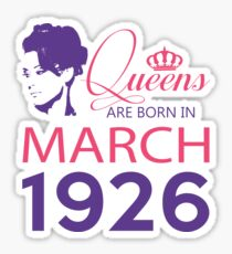 It's My Birthday 92. Made In March 1926. 1926 Gift Ideas. Sticker