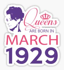 It's My Birthday 89. Made In March 1929. 1929 Gift Ideas. Sticker