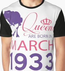 It's My Birthday 85. Made In March 1933. 1933 Gift Ideas. Graphic T-Shirt