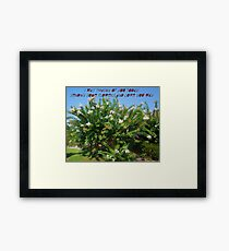 Thinking Of You Today Framed Print