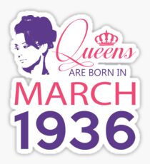It's My Birthday 82. Made In March 1936. 1936 Gift Ideas. Sticker