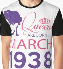 It's My Birthday 80. Made In March 1938. 1938 Gift Ideas. Graphic T-Shirt