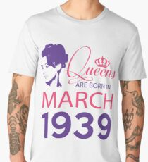 It's My Birthday 79. Made In March 1939. 1939 Gift Ideas. Men's Premium T-Shirt