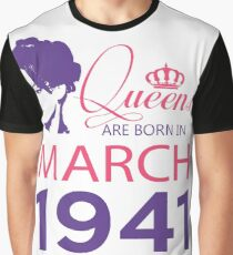 It's My Birthday 77. Made In March 1941. 1941 Gift Ideas. Graphic T-Shirt