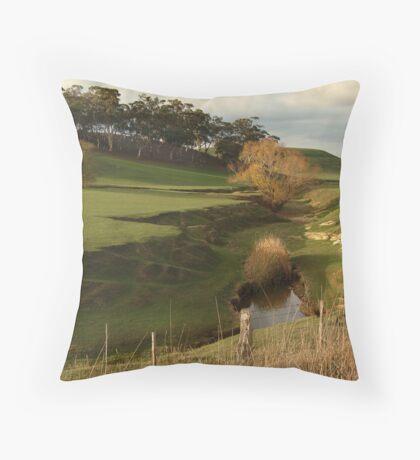 Green Pasture,Daylesford District Throw Pillow