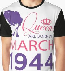 It's My Birthday 74. Made In March 1944. 1944 Gift Ideas. Graphic T-Shirt