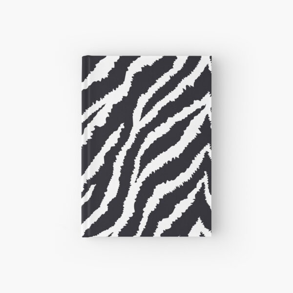 Zebra fur print Hardcover Journal