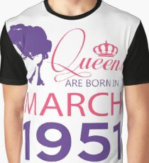 It's My Birthday 67. Made In March 1951. 1951 Gift Ideas. Graphic T-Shirt