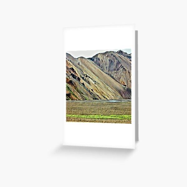 Landmannalaugar 3, Iceland - photo sketch Greeting Card