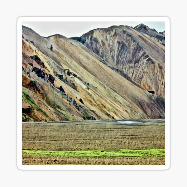 Landmannalaugar 3, Iceland - photo sketch Sticker