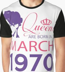 It's My Birthday 48. Made In March 1970. 1970 Gift Ideas. Graphic T-Shirt