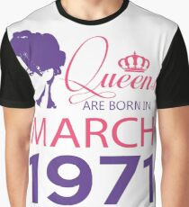 It's My Birthday 47. Made In March 1971. 1971 Gift Ideas. Graphic T-Shirt