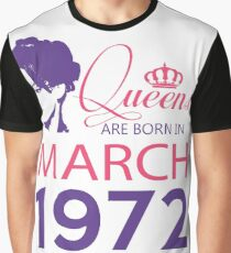 It's My Birthday 46. Made In March 1972. 1972 Gift Ideas. Graphic T-Shirt