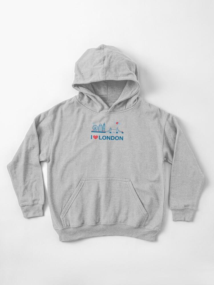 I Love Heart London Black Kids Sweatshirt
