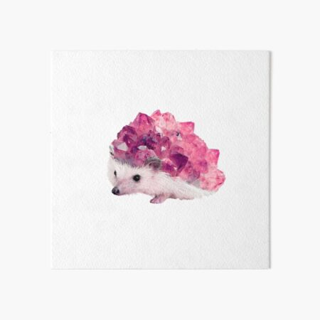 Lucky Mineral hedgehog by Alice Monber Art Board Print