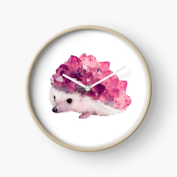 Lucky Mineral hedgehog by Alice Monber Clock