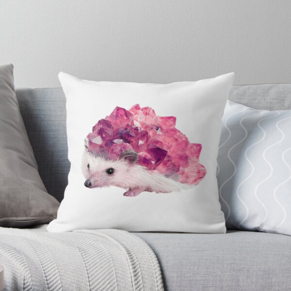 Lucky Mineral hedgehog by Alice Monber Throw Pillow