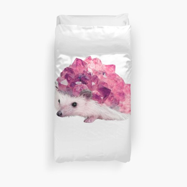 Lucky Mineral hedgehog by Alice Monber Duvet Cover