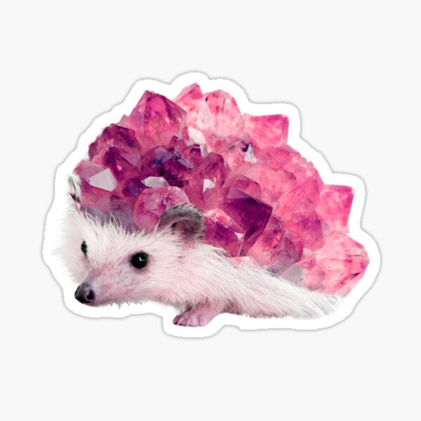 Lucky Mineral hedgehog by Alice Monber Sticker